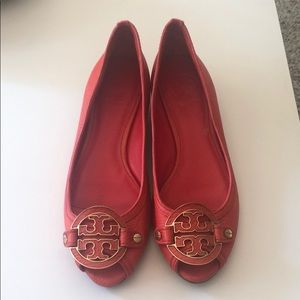 Tory Burch Red Wedges Size 7